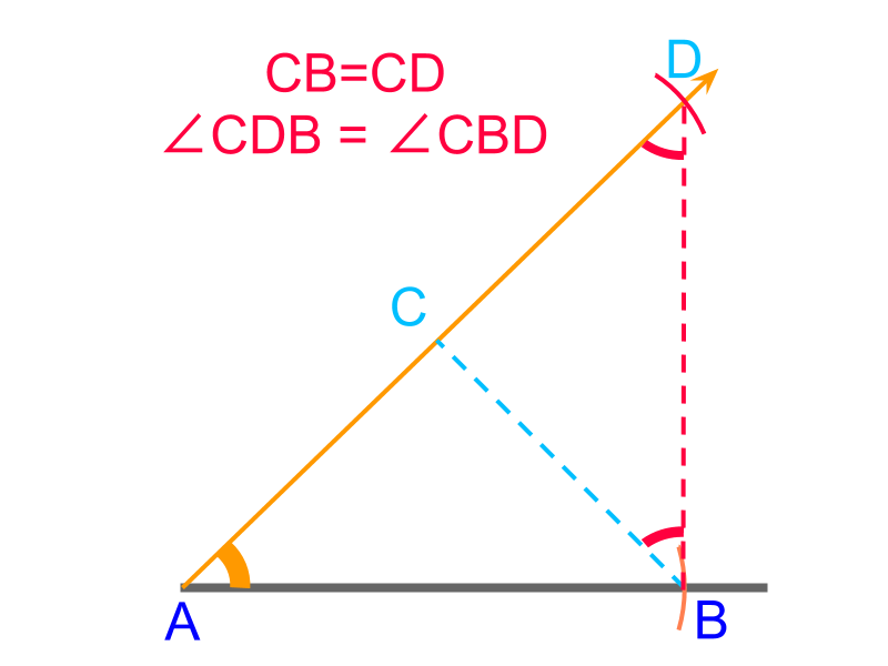 construction of triangle SA sum of 2 sides